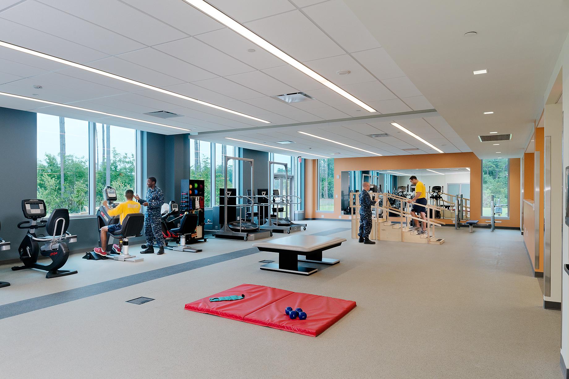 Intrepid Spirit Center gym interior